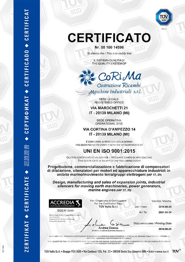 Ricambi Macchine Industriali Milano Certificato